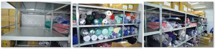 Стеллажи для хранения ткани в рулонах