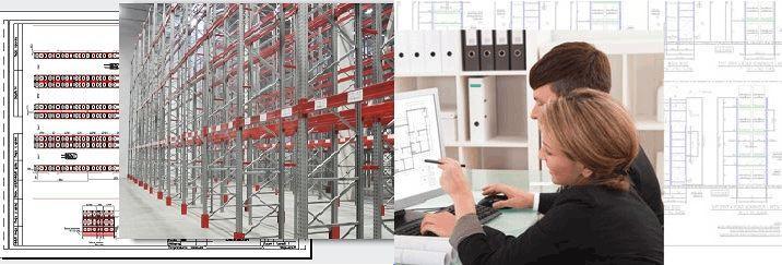 Проектирование стеллажей для склада и складских комплексов на заказ