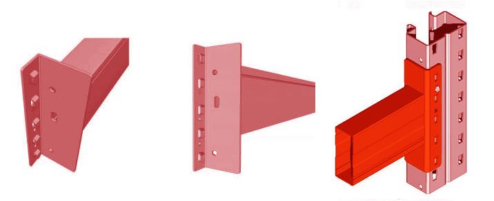 Зацеп балки тип В для стеллажа серии Р